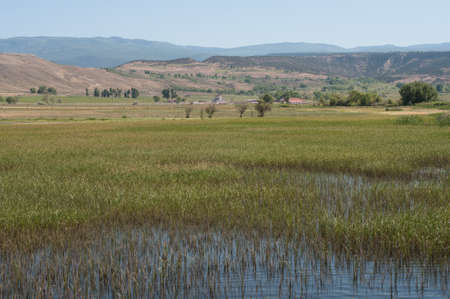 Rechargez terres humides près Eckert, Colorado Banque d'images