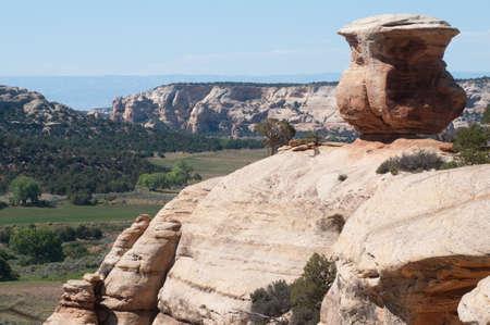 Miracle Rock balanced rock on Glade Park, Colorado