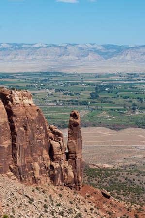 Grand Valley du Rim Trail sur le Colorado National Monument