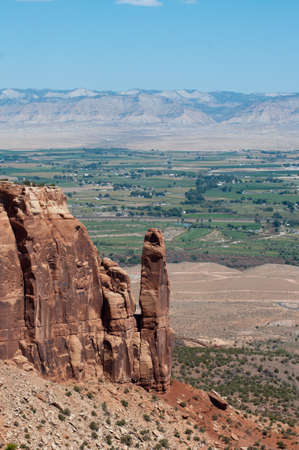 Grand Valley from the Rim Trail on the Colorado National Monument Stock Photo