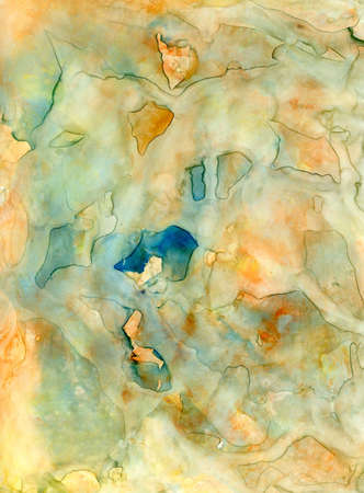 Abstract watercolor wet-on-wet painting
