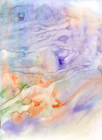 Résumé humide sur humide peinture Banque d'images