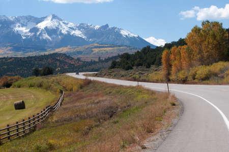 Highway Toward Telluride near Ridgway Stock Photo