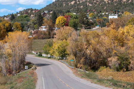 Crawford, Colorado in autumn Stock Photo