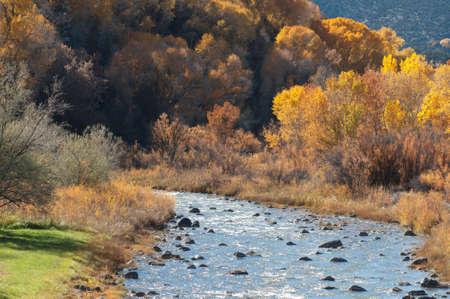 Plateau Creek à l'automne Banque d'images