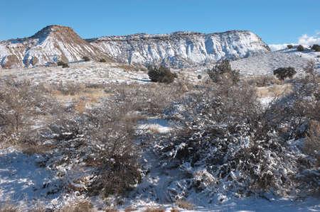 Entrée Est du Colorado National Monument en hiver