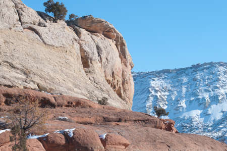 Canyon in Winter Stock Photo