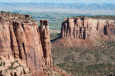View from Rim Rock Drive in Colorado National Monument  Reklamní fotografie