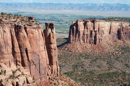 Vue de Rim Rock Drive à Colorado National Monument