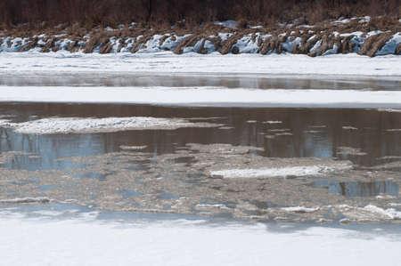 la fonte des glaces sur le fleuve Colorado
