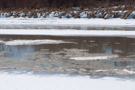 melting ice on the Colorado River