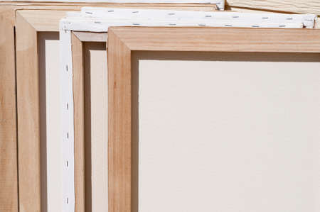stretched: Backs of stretched canvases