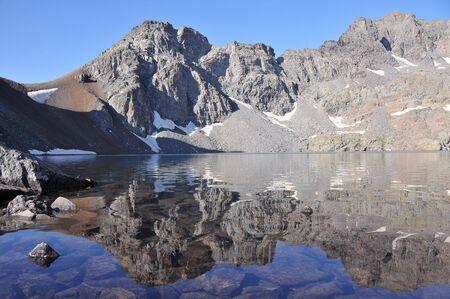 View of beautiful Deniz Golu lake in Kackar mountains, in Turkey Stock Photo - 4787369