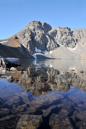 golu: View of Deniz Golu in Kackar mountains in Turkey Stock Photo