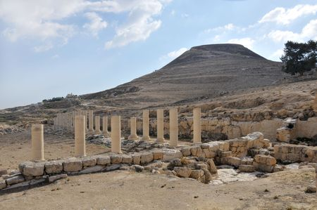 View of Herodion which was biult by Herod the Great.