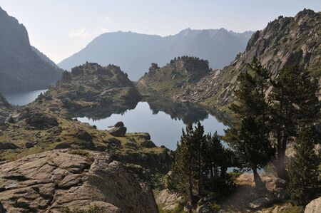 Beautiful view of lake in Spanish Pyrenees mountains Stock Photo - 5737713