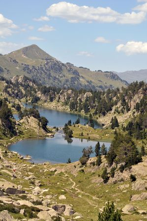View of mountains and lakes in Spanish Pyrenees Stock Photo - 5737715