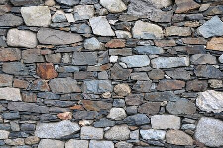 Close up of a stone wall texture.