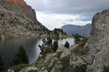 View of mountain lake in Spanish Pyrenees Stock Photo - 6984656