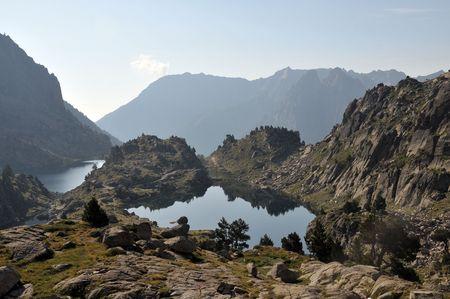 Beautiful view of Spanish Pyrenees mountains lake Stock Photo - 6984684