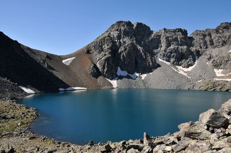 View of beautiful Deniz Golu lake in Kackar mountains, in Turkey Stock Photo - 7104517