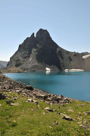 golu: View of Kackar mountains, in Turkey Stock Photo