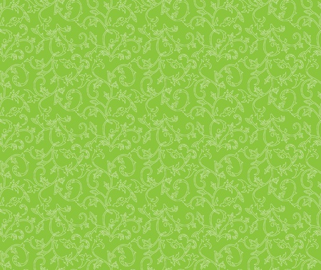 bstract: White seamless retro pattern on a green background  Illustration