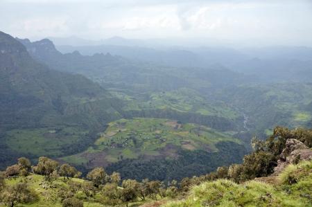 ethiopia: View of landscape on Simien mountains park, Ethiopia.