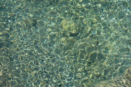 View of lake bottom through water Фото со стока