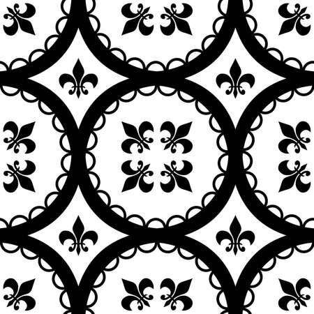 A Ttleable Fleur-De-Lis and circle pattern. Stock Photo