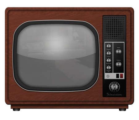 television antigua: Ilustraci�n de un equipo de televisi�n de la vendimia.