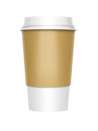 disposable: A computer illustration of a takeaway coffee cup Stock Photo