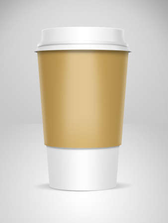A computer illustration of a takeaway coffee cup Stock Illustration - 10901899