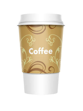 A computer illustration of a takeaway coffee cup Stock Photo