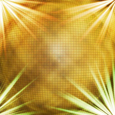 mirrorball: Abstract background, with a golden mirrorball (ish) type sphere and lighting effects.