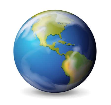 Illustration der Erde auf einem weißen Hintergrund Vektorgrafik