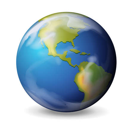 mother earth: Illustration of the Earth on a white background