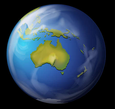 earth from space: Realistic illustration of the Earth Illustration