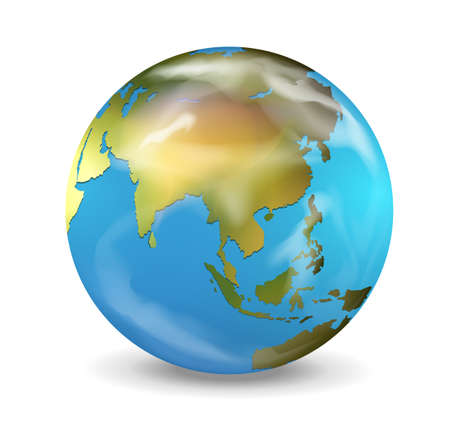 Realistic illustration of the Earth Vector