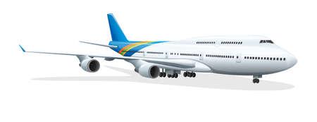 pr�cis: Illustration d'un avion - scientifiquement exacte Illustration