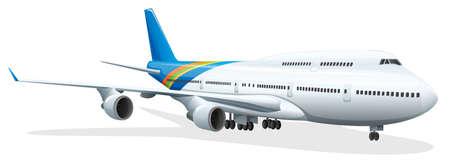 boeing 747: Illustrazione di una vista laterale del passeggero jet