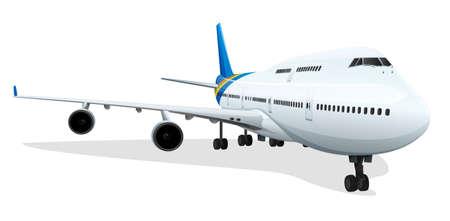 boeing 747: Illustrazione di un aereo passeggeri Vettoriali