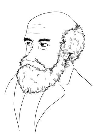 the fittest: Sketch of Charles Darwin