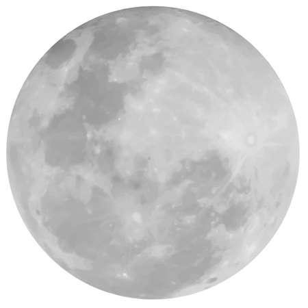 volle maan: Maan van de Aarde Stock Illustratie