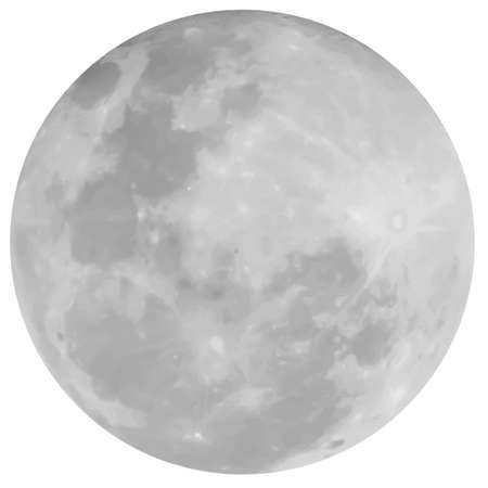 The Earth's Moon Vector