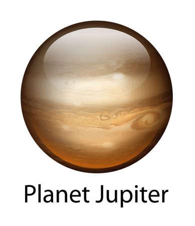 milkyway: Illustratie van de planeet Jupiter