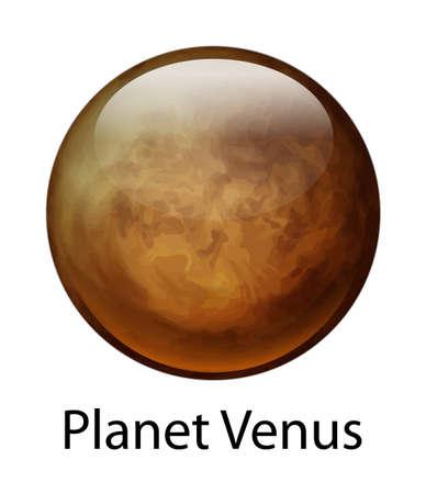 milkyway: Illustratie van de planeet Venus