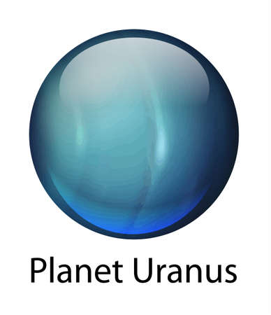 uranus: Icon illustration of the planet Uranus