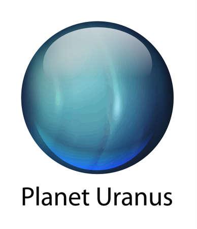 Icon illustration of the planet Uranus Stock Vector - 16988045