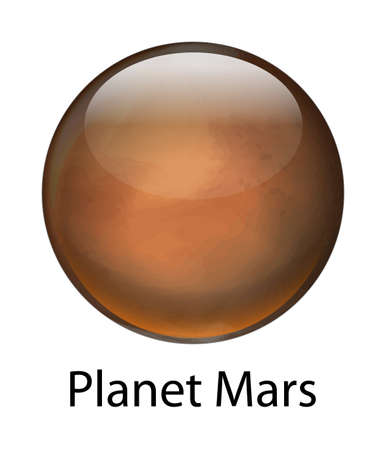 axial: Illustration of the planet Mars Illustration